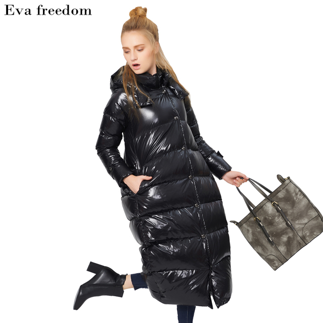 d0460269edd Eva freedom quality women s clothing for the Russian winter hot big size  long thick women s jacket
