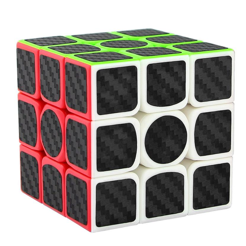 3x3x3 Speed Cube Carbon Fiber Sticker for Smooth Fidget Cube Puzzles IUNEED TOY Store