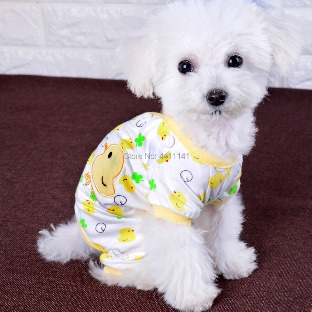 Adorable Cotton Dog Pajamas Small Pet Cat Clothes Jumpsuit Embroidery Puppy  Yorkie Leisure Wear-in Jumpsuits   Rompers from Home   Garden on  Aliexpress.com ... 670c8eeaa