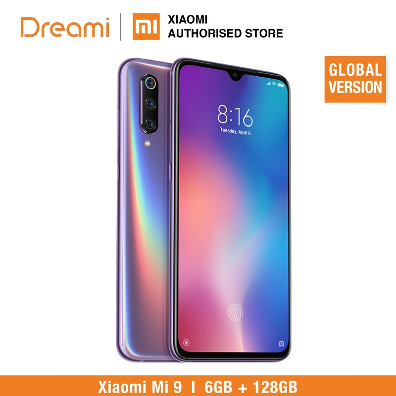 Version mondiale Xiao mi mi 9 128 GB ROM 6 GB RAM (neuf et scellé) prêt à l'emploi