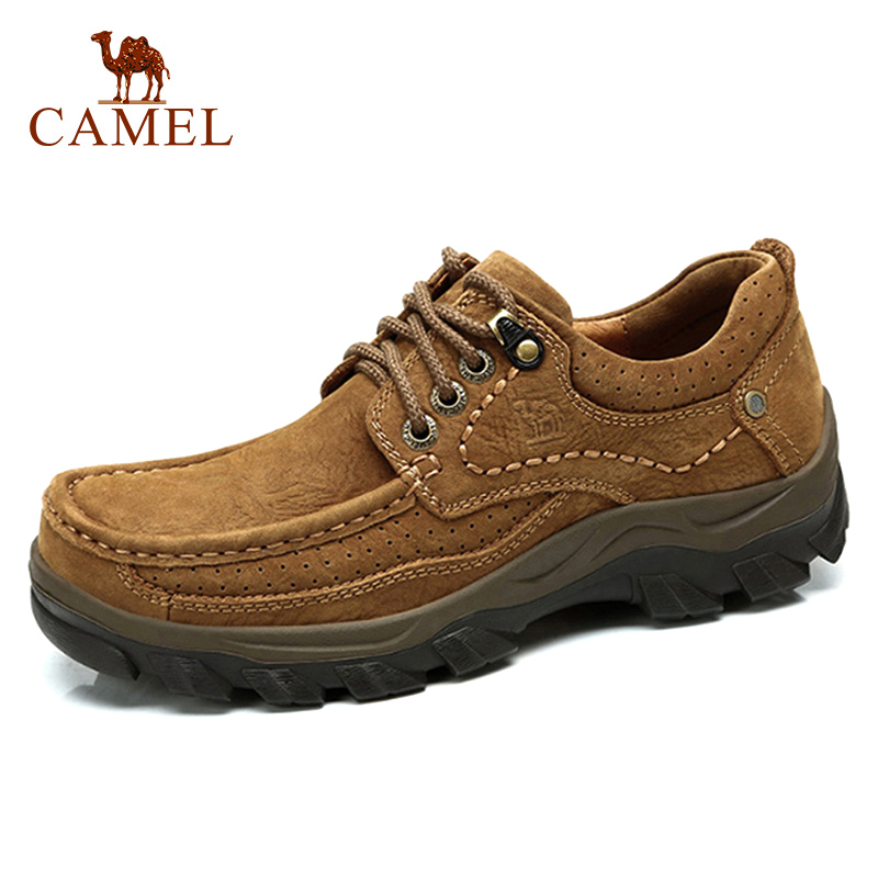 CAMEL Genuine Leather Shoes Men Brand Footwear Fashion Men's Casual Shoes Male High Quality Cowhide Suede Lace-up Men's Flats