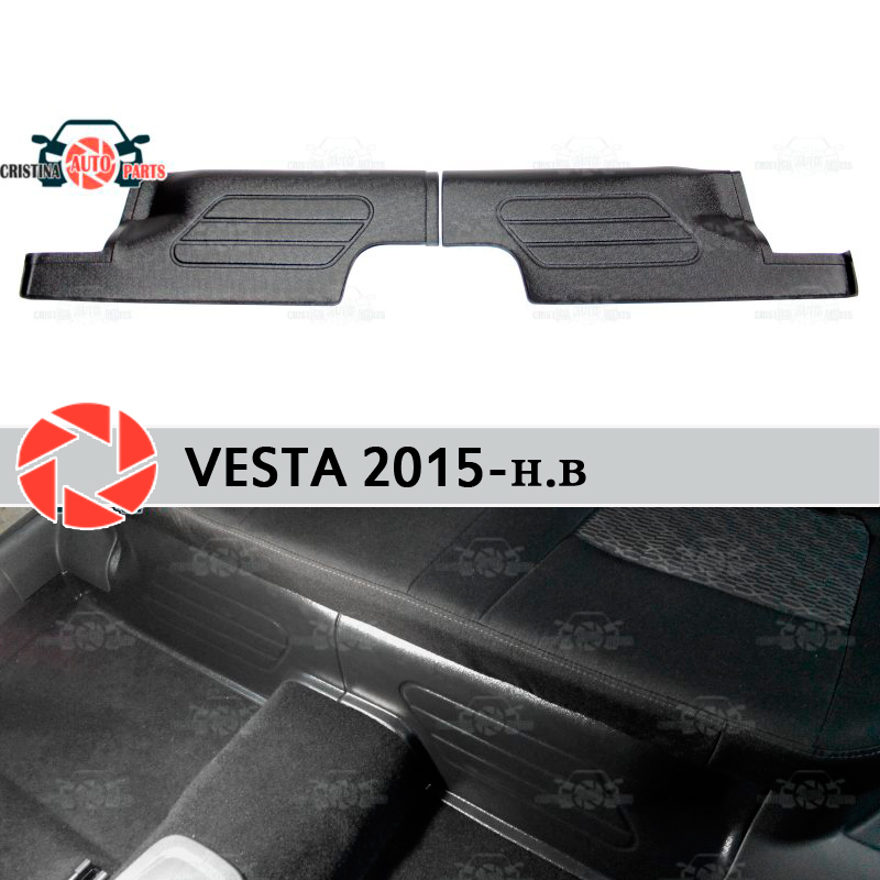 For Lada Vesta 2015-pads under the rear seats covers on carpet sill trim accessories protection of carpet car styling s25 1156 ba15s p21w car led light bulb 13 smd 5050 brake rear turn signal light bulb leds lamp 12v white red car styling