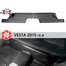Для Lada Vesta 2015-накладки под задние сиденья чехлы на ковер отделка порога аксессуары защита ковра Стайлинг автомобиля