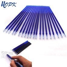 20Pcs/Set Office Gel Pen Erasable Refill Rod Erasable Pen Washable Handle 0.5mm Blue Black Green Ink School Writing Stationery(China)