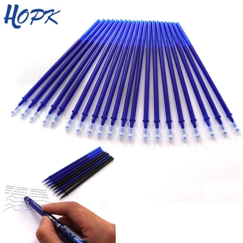 20Pcs zestaw Office Gel Pen Erasable wkład Rod Magic kasowalne Pen wkład 0 5 mm niebieski czarny atrament Szkoła papeteria pisanie narzędzie prezent tanie i dobre opinie pióro żelowe ZB05 Normalne w hopk do 0 5 mm Plastikowe Office School Pen Atrament żelowy