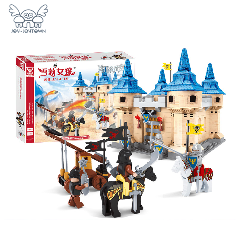 JOY-JOYTOWN Theme Building Blocks castle hegemony Shirly Girls Series Model Bricks Educational Toy kids Children gift 576pcs contesting hegemony