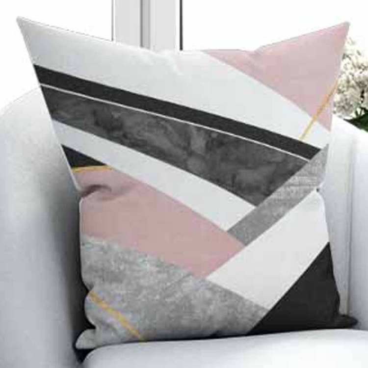 Else Black Gray Pink Aging Vintage Geometric 3D Print Microfiber Throw Pillow Case Cushion Cover Square Hidden Zipper 45x45cm