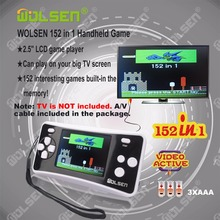 High quality handheld game consoles mini handheld color video game children gifts classic 152 in 1 game(Black)