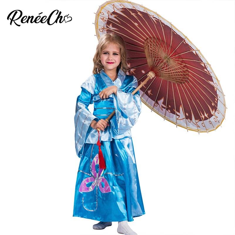 588b7826bd617 Купить Детский костюм на Хеллоуин ребенок кимоно гейши косплей ...