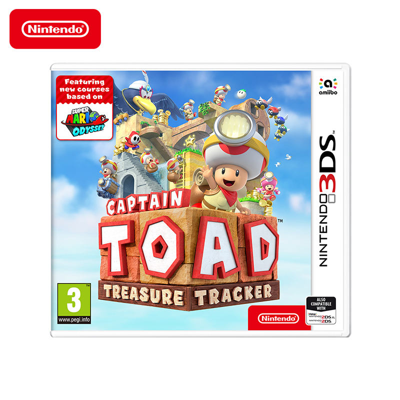 Game Deals Nintendo Captain Toad Treasure Tracker New Nintendo 3DS protective artificial leather case bag w carabiner for nintendo 3ds deep blue