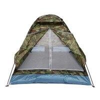 Więcej Trwałe 2 Osoby Namiot Camping Parasolka dwuwarstwowa Wodoodporna Wiatroszczelna Anty-uv Słońce Cieniowanie Shelter Namiot Na Zewnątrz Piesze Wycieczki