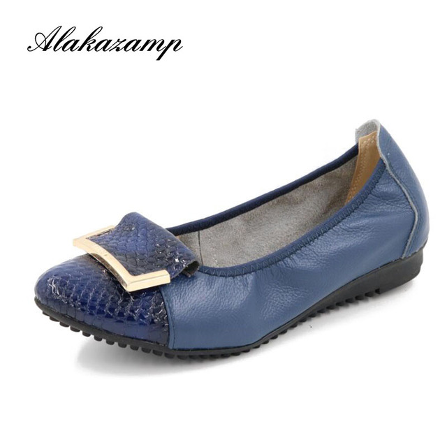 2019 Spring New Genuine Leather Flat Shoes For Women Pointed Toe High Quality Slip On Burgundy Comfortable Driving Shoes X1681