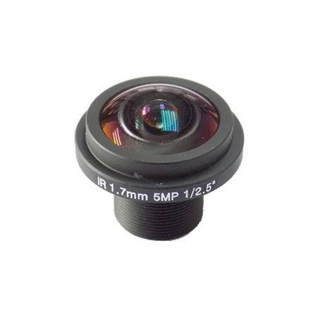 5Megapixel 1.7mm Fisheye Lens For HD IP Camera M12 wide angle cctv lens 5megapixel 1 7mm fisheye lens for hd cctv ip camera m12 mount 1 2 5 f2 0 compatible wide angle panoramic cctv lens
