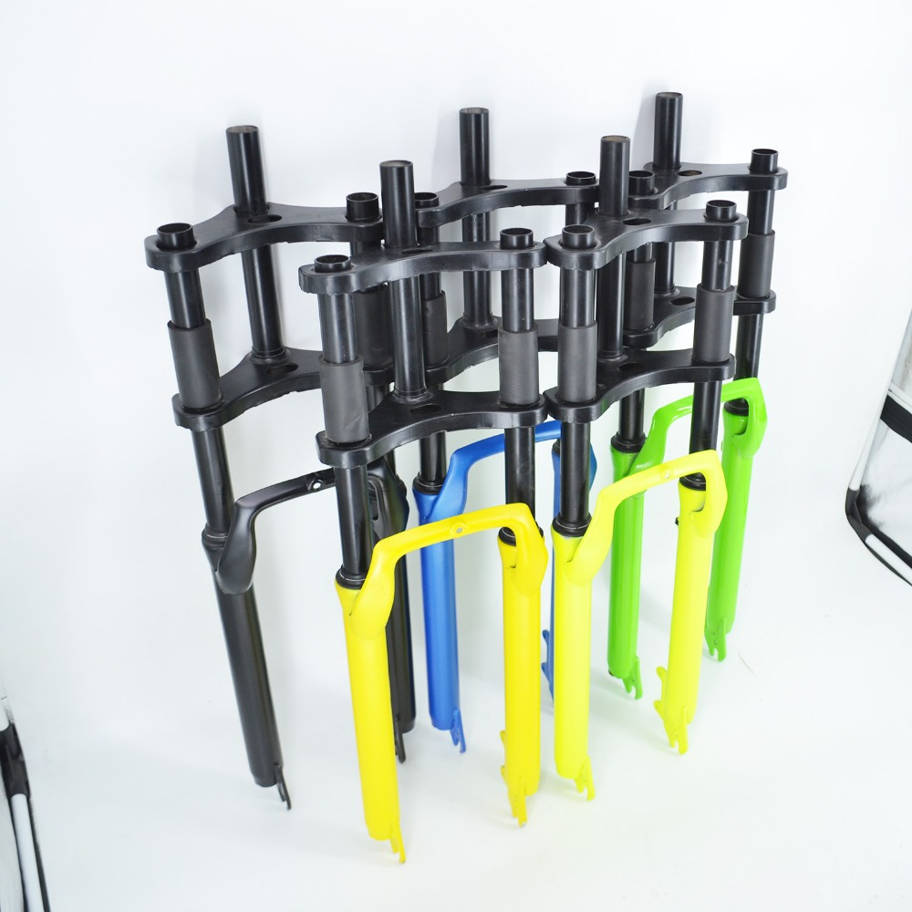 Free Shipping Bicycle Front Snow Fat Fork MEIANDIAN Disc Brake Triple Crown Mountain Fork 26 inch Black Blue Green Yellow Forks