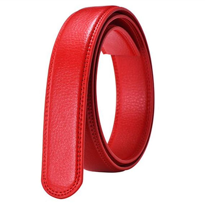 Men's No Buckle   Belt   Body Strap Without Buckle   Belts   Man Business Casual Male Black Coffee White Red   Belts   Automatic Buckle   Belt