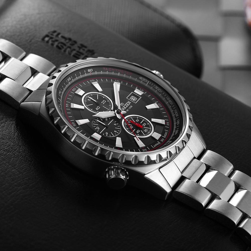 NAKZEN Business Blue Men Wirst Watch Sport Zegarki kwarcowe ze stali - Męskie zegarki - Zdjęcie 5