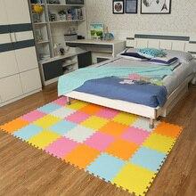 9pcs/lot Baby Play Mat Plain Color Puzzle Mats EVA Foam Mat Kids Jigsaw Mats 30X30X1cm for Bedroom School Protective Floor Tiles