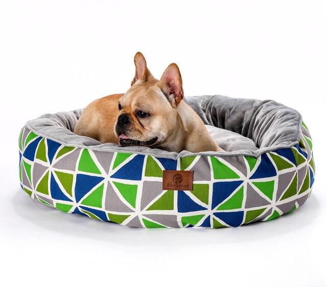 Di cristallo della peluche del panno morbido rotonda base del cane pet letto per