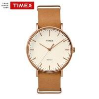 Timex Original Men S Watches Couple TW2P912 Weekender Fairfield Series Quartz Leather Simple INDIGLO Backlight Men