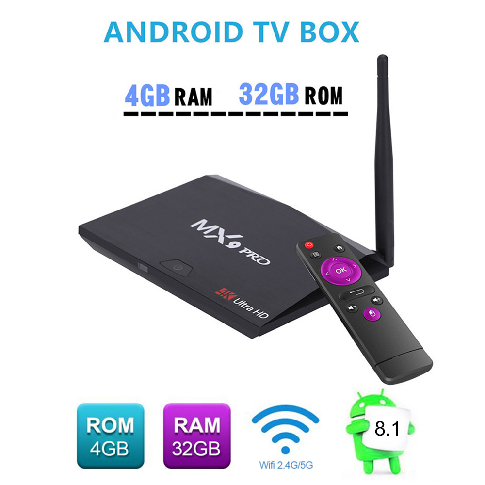 Docooler MX9 Pro 4GB 32GB Android 8.1 TV Box RK3328 Quad Core 4K VP9 3D 2.4G 5G WiFi Bluetooth Smart Set top box PK X96 X96 MINI