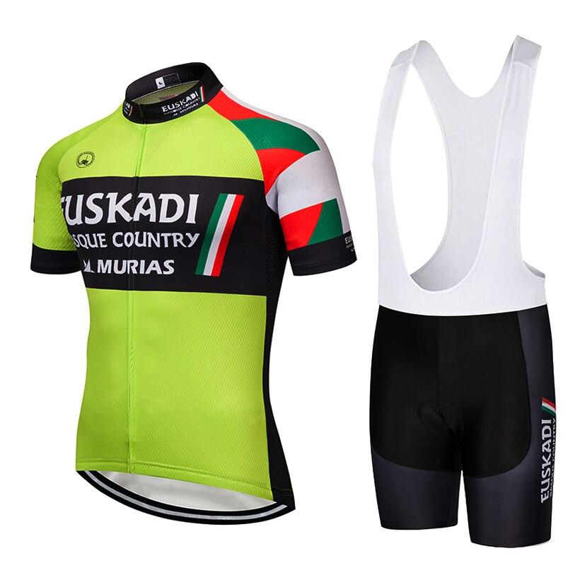 цена 2019 TEAM Euskadi Cycling Clothing Bike jersey 9D gel pad bike shorts sets mens Ropa Ciclismo breathable shirts Maillot Culotte онлайн в 2017 году