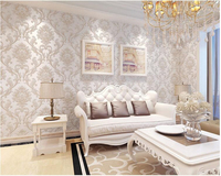 Beibehang Classic Embossed Wallpaper Bedroom Living Room Background Hotel Beauty Salon Club Flower Papel De Parede