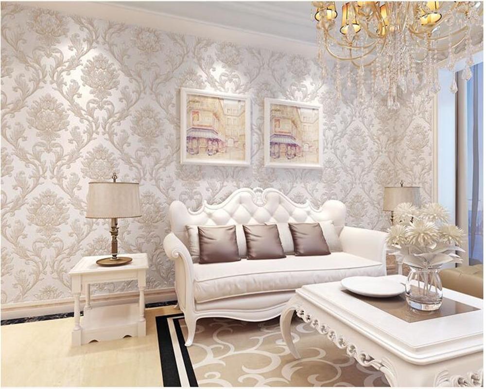 beibehang Classic embossed wallpaper bedroom living room ...