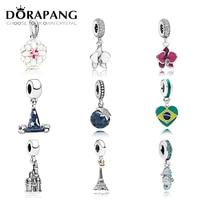 DORAPANG 100 925 Sterling Silver Flower Type Pendant Charm Magic Hat Bead Collocation Bracelet DIY Bracelet