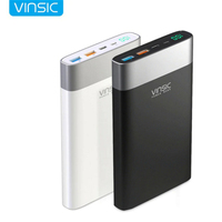 Vinsic 20000mah Power Bank Quick Charge Poverbank Type C Dual USB Battery Charger Pack Voor for Phone X 8 8 Plus Powerbank
