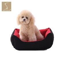 SewCrane прочная подушка для отдыха щенка однотонное спальное место для собаки кроватка для кота, красный и черный
