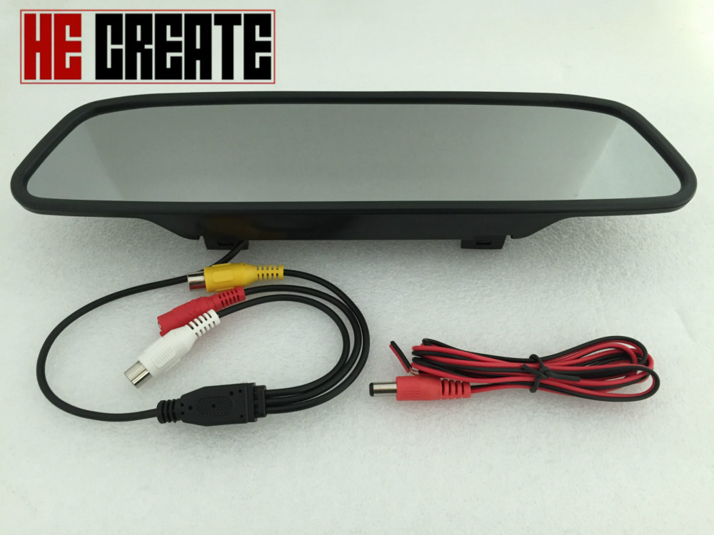 HE CREATE Car Rearview 4 3 Mirror Monitor Backup Reverse Camera TFT LCD Color Parking Assistance