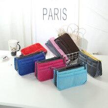 Colorful Makeup Organizer Bag Handbag Purse Large liner Travel Insert Lady Casual Cosmetic Bag Trave