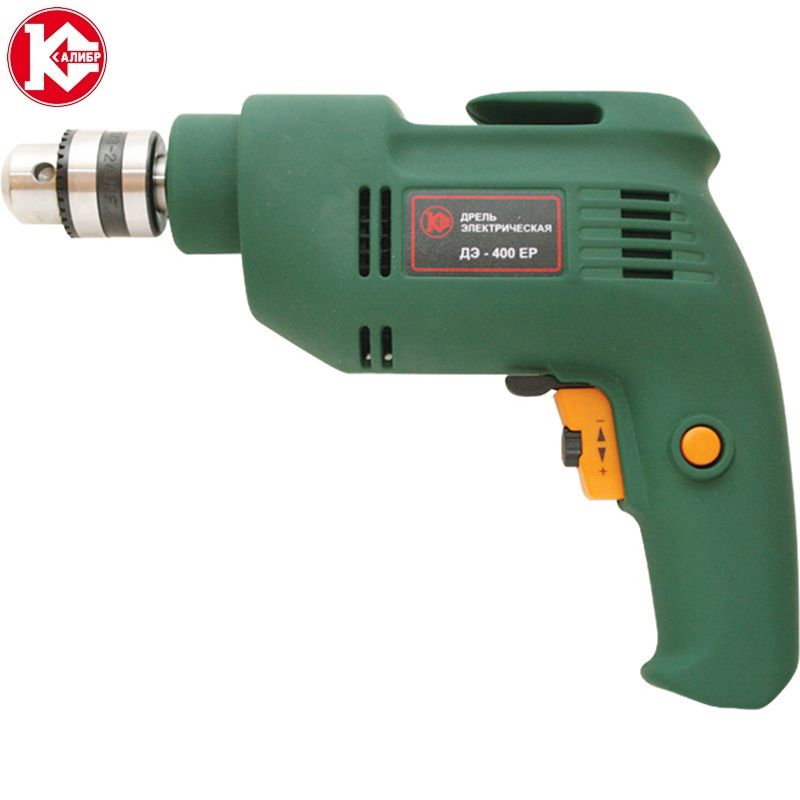 Electric unstressed drill Kalibr DE-400ER, 400W, 0-2800 ob/min hilda 25pcs 400w dremel style cnc tool mini drill with flexible shaft and accessories electric variable speed woodworking tools