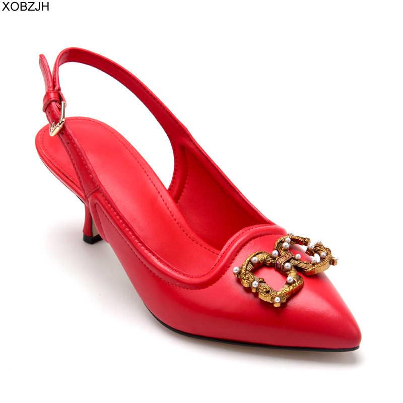 イタリアオフィス本革の女性の靴パンプス 2019 高級ブランドデザイナーは赤レディース G サンダル靴女性のレースアップ