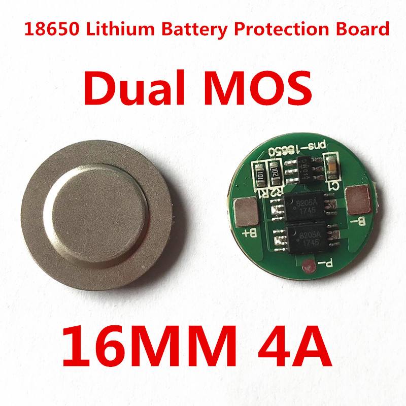 1S 4A BMS 18650 Battery 4.2V Battery Protection Board 18650 Lithium Charge And Discharge Protection Board 16MM Dual MOS