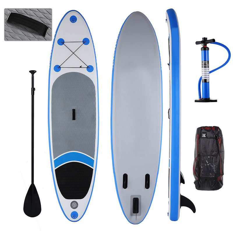 Nouveau 10ft gonflable Stand Up Paddle Board iSUP avec pagaie réglable sac à dos surf board 305*76*15 cm charge 110 kg