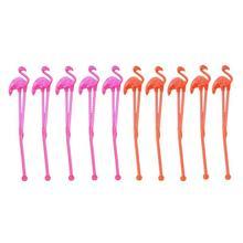 10 шт Фламинго пластиковые палочки для размешивания напитков замороженные напитки коктейль Бар Мешалка украшения