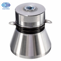 1Pcs 100W 28KHz Aluminum Alloy Ultrasonic Piezoelectric Transducer Cleaner Silvery High Performance Ultrasonic Cleaner Parts