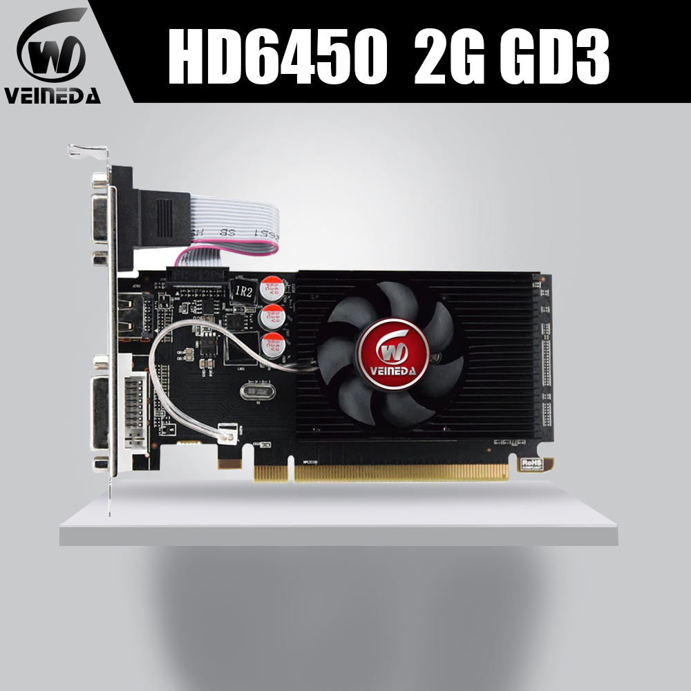 Veineda Graphics-Cards DDR3 HD6450 HDMI 2GB High-End