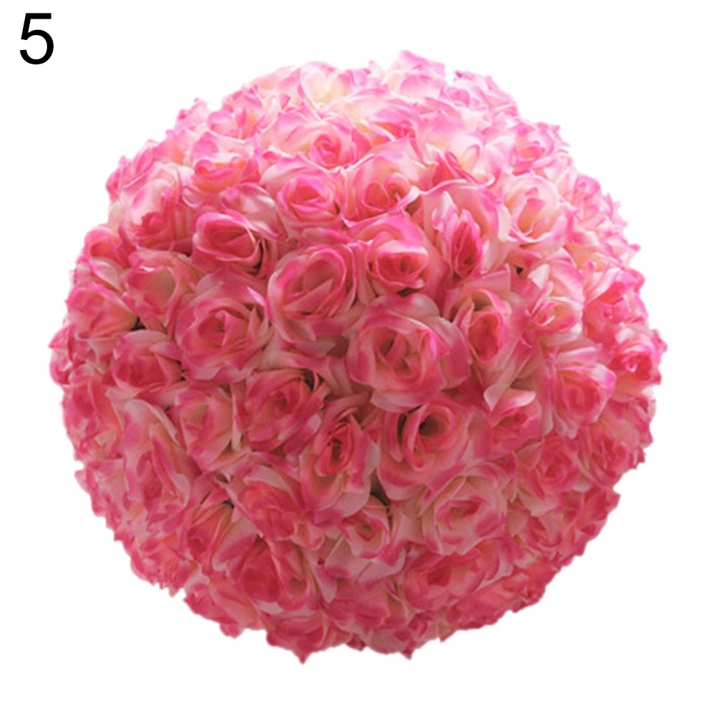 8 Inch Wedding Artificial Rose Silk Flower Ball Hanging Decoration ...