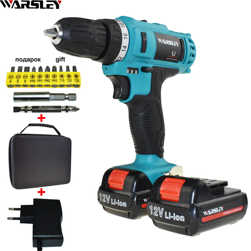 18-25N/M 12V Power Tools Battery Drill Cordless Drill Electric Drill Electric Screwdriver Electric Tools Mini Electric Drilling