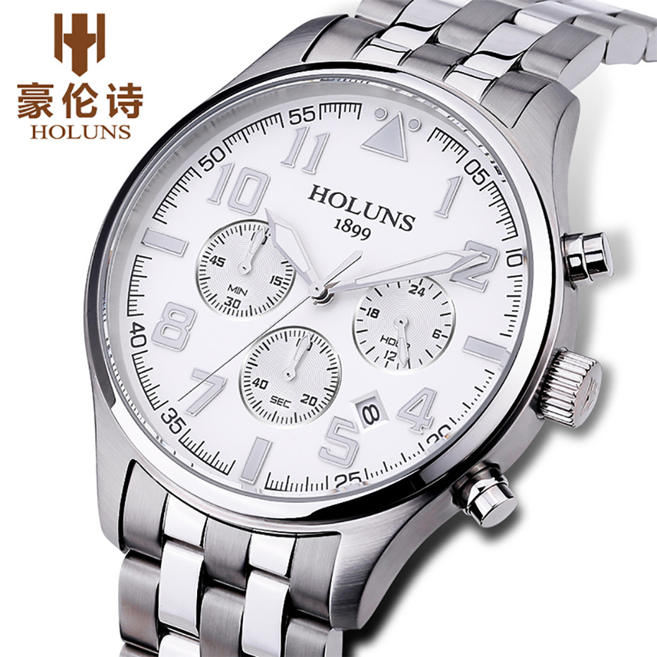 Holuns Mens Watches Brand Luxury Quartz Business Sport Wristwatch Classic Stainless Steel Waterproof Relogio Masculino цена и фото