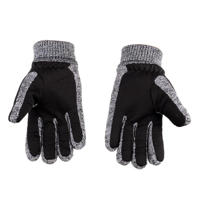 Winter Men Gloves Leather...