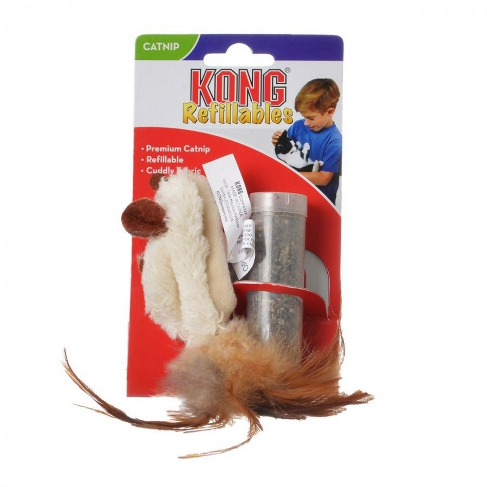 Cat toys KONG toy for cats Mouse vole with feathers 15 cm plush with catnip tub simulation cat plush toy talking toys slippers furnishing articles call animal super cute doll birthday gift lovely decoration
