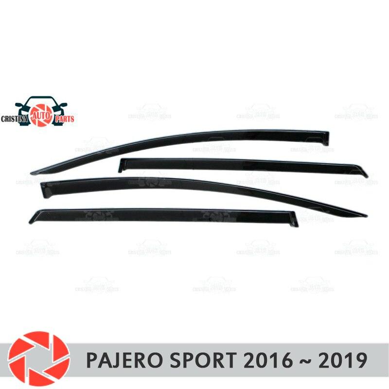 Окна отражатель для Mitsubishi Pajero Sport 2016 2019 Дождь Отражатель грязь защиты Тюнинг автомобилей украшения аксессуары для литья