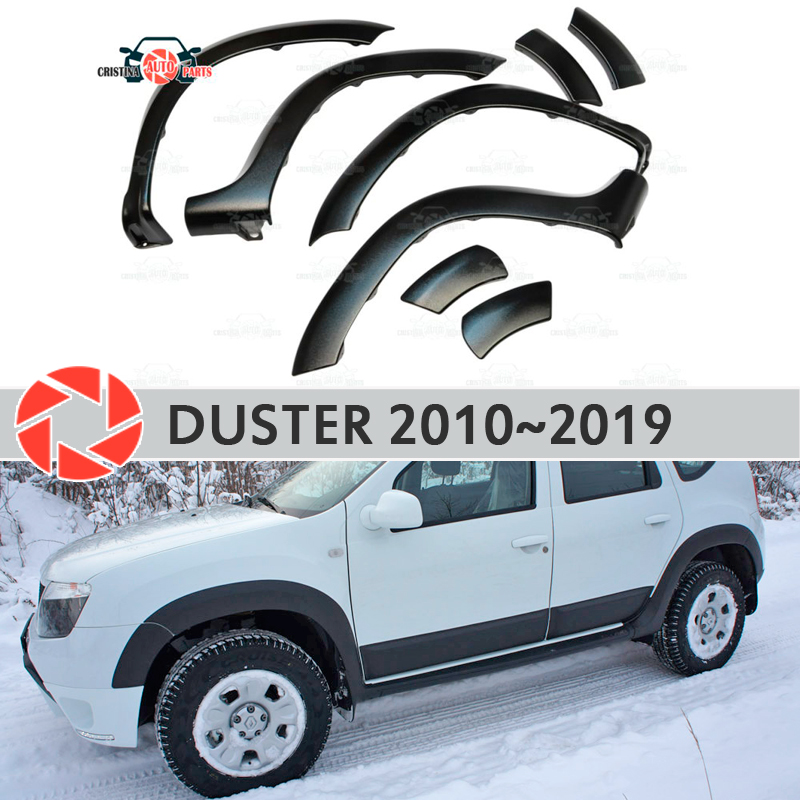 Wheel arches fenders for Renault Duster 2010-2019 fendors trim accessories protection decoration exterior car styling v2 epr car styling for mitsubishi evolution evo 6 carbon fiber front bumper canard glossy fibre exterior accessories racing trim page href