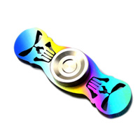 New 1Pcs Titanium Alloy TC4 Skull Handspinner Rainbow Colorful Limited Edition Fingertips EDC Hand Torque Gyro