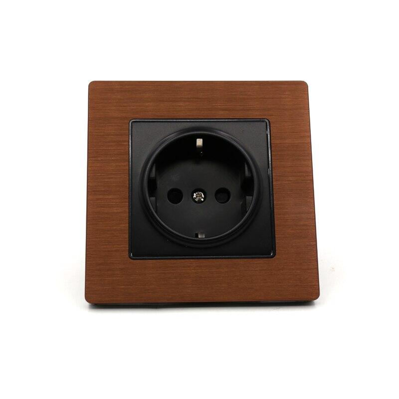 Livraison gratuite une pièce EU version AC 20A prises de courant prise murale prise de qualité audio