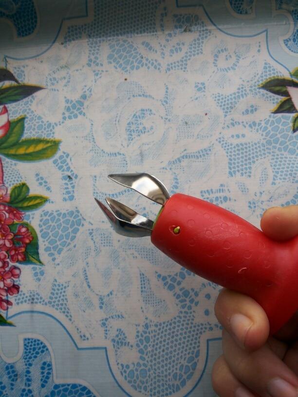 Клубника Huller клубника Топ удаления листьев плодов томата стебли Spillter фруктовых стволовых Remover фрукты инструменты Кухня гаджеты