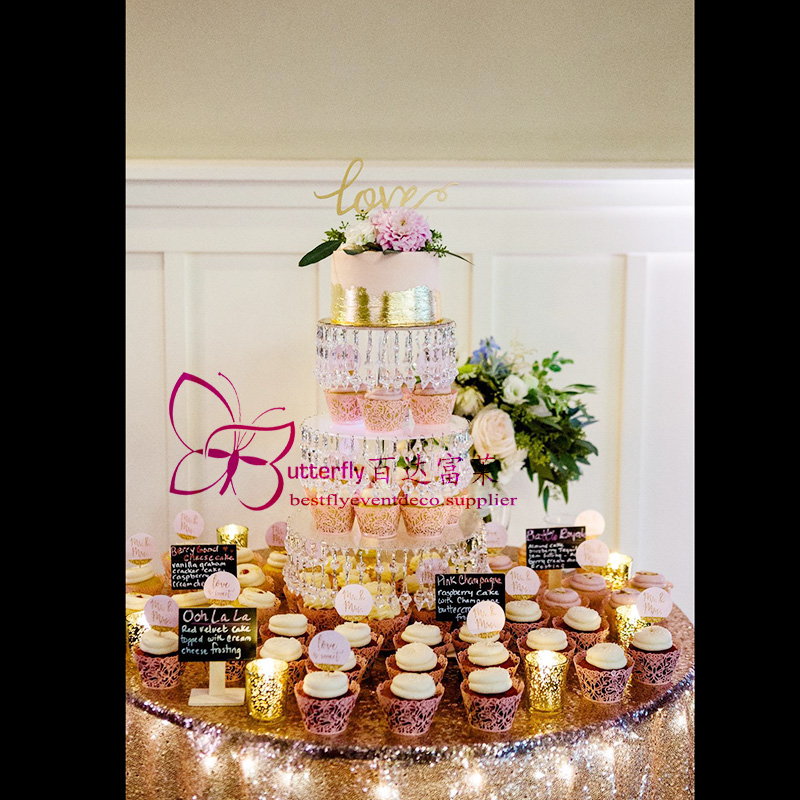 4 Tier Acrylic Cupcake Tower Stand -4